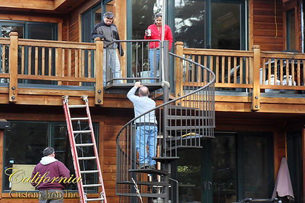 Install Crew of a spiral staircase