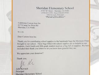 Helping Local Elementary School