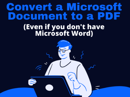 How to Convert a Microsoft Word Document to PDF (Four Ways)