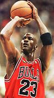 Michael Jordan en plein shoot.