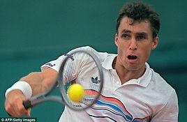 Ivan Lendl lors d'un match de tennis