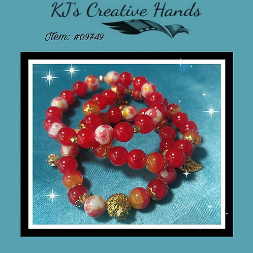 Red Agate • Red Gold Leaf Glass • Deep Carnelian stone