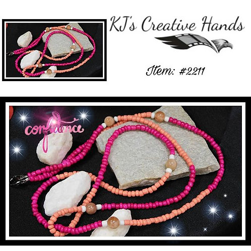 Hot Pink and Pink Pastel w/ Marble - Waist Beads