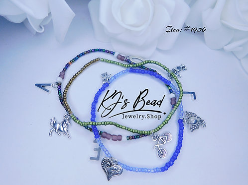 3 Set Anklets w/ Charms
