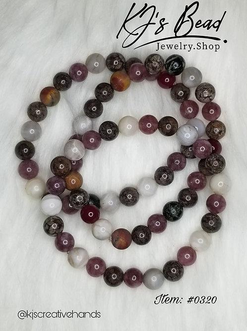 Multi Gemstone Bracelet Set (3)