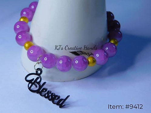 Purple Amethyst and Drizzled Yellow Gold