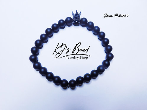 Black Onyx w/ Black Rhinestone Crown