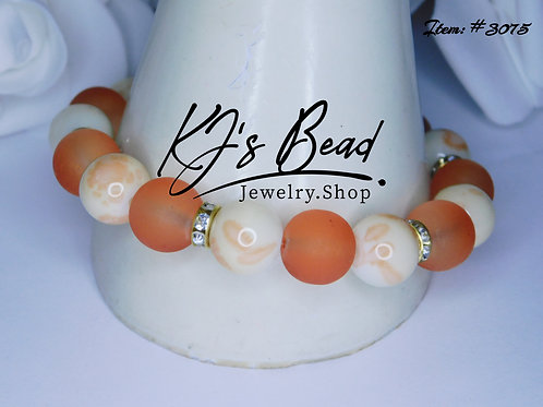 Parfait Marble _ Orange Sea_Beach Glass