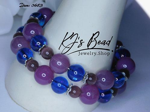 Purple Jade _ Purple Cat Eye _ Blue Marble