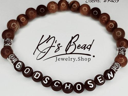 Tiger Eye & Wood w/ Stainless Steel Spacers - Men's Bracelet
