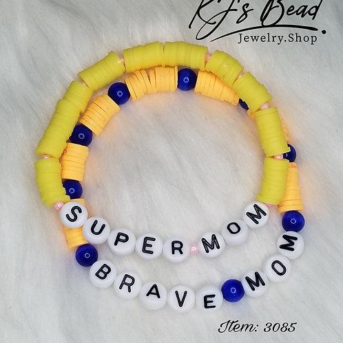 Mom Lettering Bracelet Set