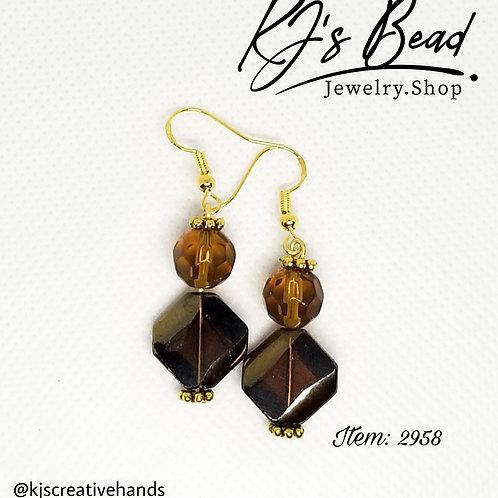Brown Tones and Natural Basics - Brown Dangle Earrings