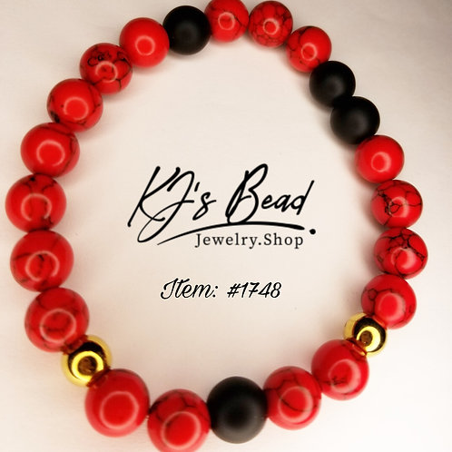 Red Turquoise | Black Onyx