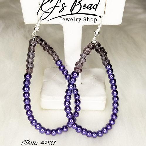 Purple Passion Teardrop Earrings