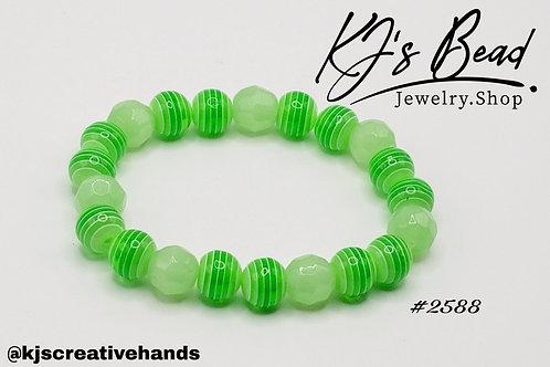 Green Apple Pin Stripe Bracelet