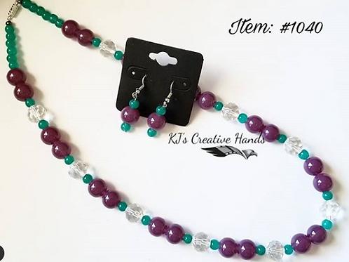Purple (Eggplant) Jade • Dark Emerald • Crystal Diamond Cut
