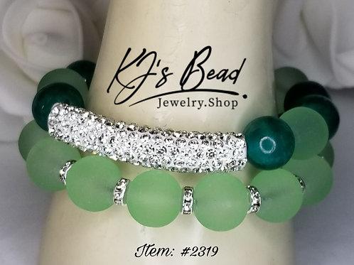 Elegantly Green | Bracelet Set