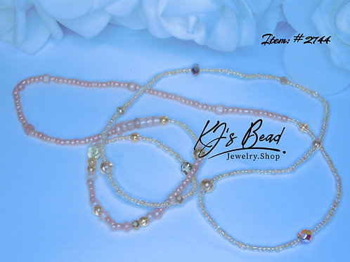 Peachy Nectar - Waist Beads