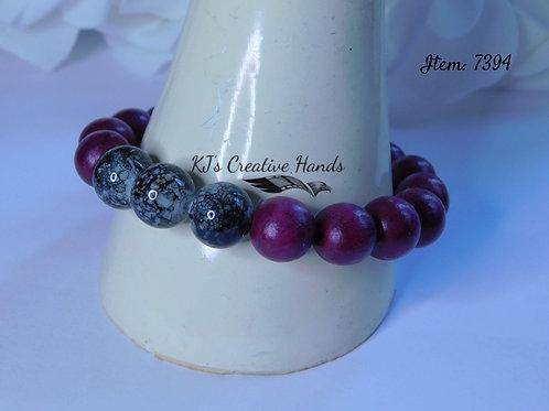 Royal Purple Wood & Dalmatian Marble - Unisex