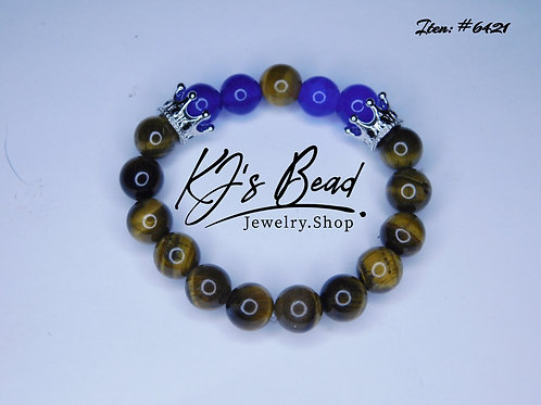 Baby Glam _ Youth Bracelet - Tiger Eye & Blue Jade