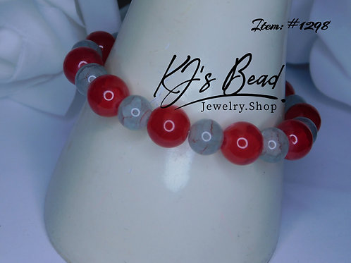 Red Agate & Grey/Red Marble
