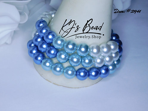 Blue Ombre Pearl | Memory Wire