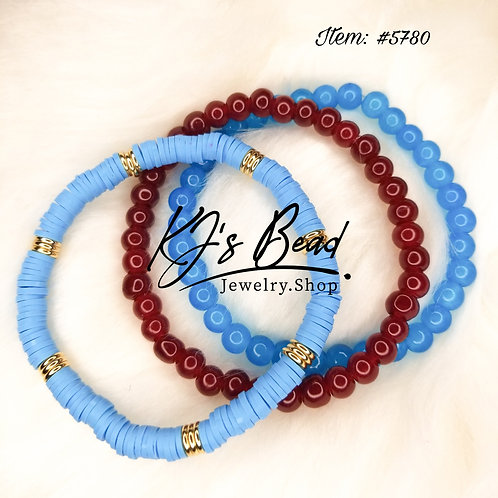 Blue Agate • Blood Red Jade • Clay Bead