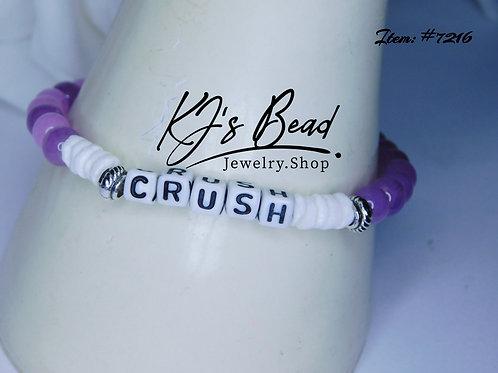 """Crush"" Bracelet _ Purple Jade"
