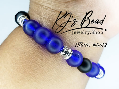 Sapphire Blue & Onyx w/Stainless Steel Spacers