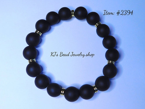 Black Matte Onyx with Gold Metal