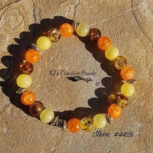 ▪︎Mellow Yellow Jade & African Crackle Glass