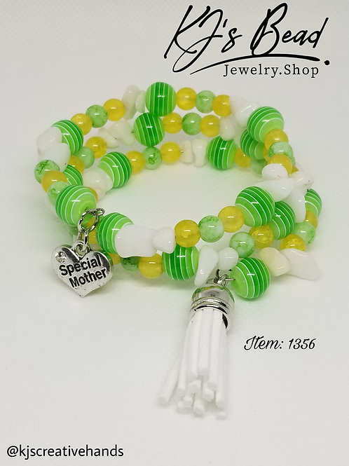 Special Mother Memory Wire Bracelet