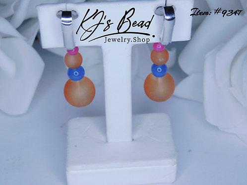Multi Color Clip On Earrings