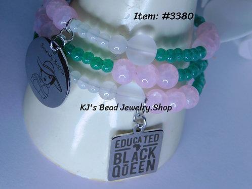 Sorority Sisters AKA - Memory Wire Bracelet