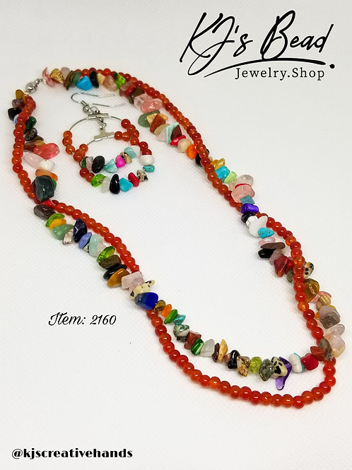 Wrap Me Double Strand Necklace and Earrings Set