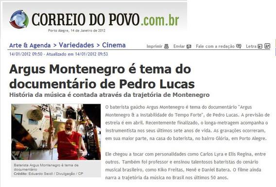 Correio do Povo, 14/01/2012
