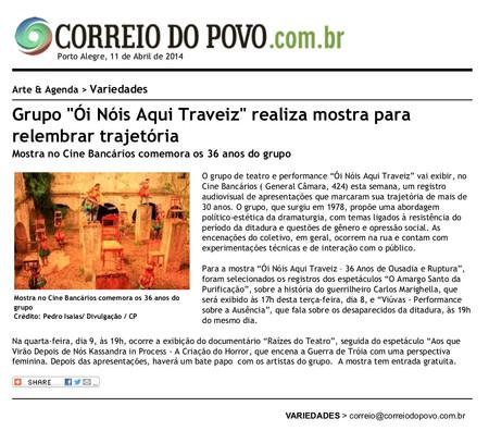 Correio do Povo 11/04/2014