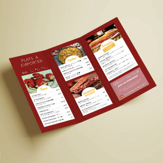 Plaquette menu / épicerie
