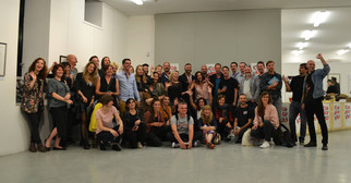 With the artists selected for Collagistas Festival #4 in Milano