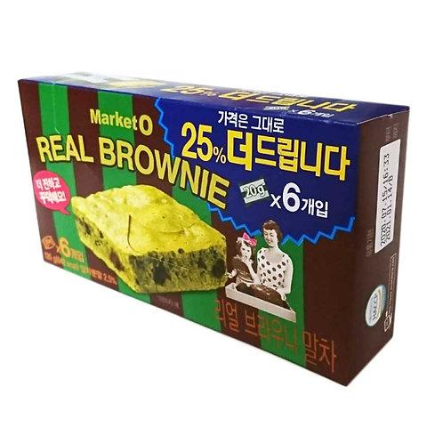 Market O 抹茶味Brownie