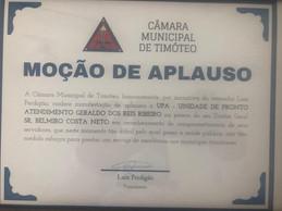 UPA Geraldo dos Reis Ribeiro em Timóteo recebe Moção de Aplauso