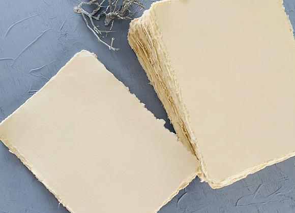 Cream Handmade deckle edge paper (A5)