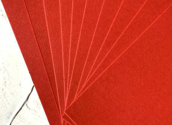 Christmas red tinted paper A5 size