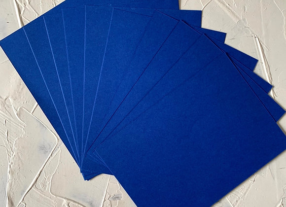 Navy blue tinted paper A5 size