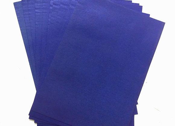 Metallic blue paper set