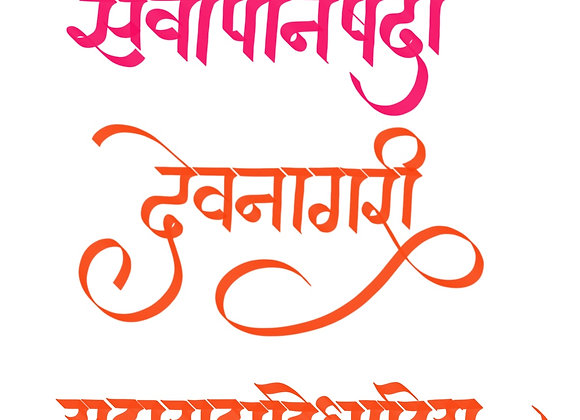 Devanagari calligraphy Procreate Digital Brush