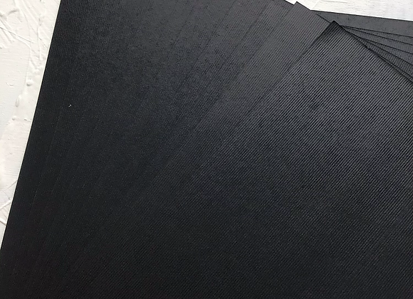 Deep black lined texture paper