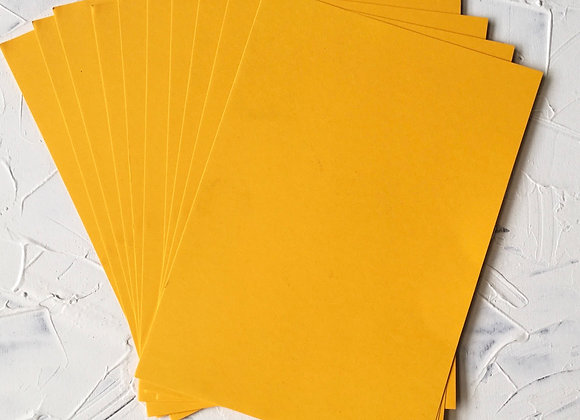 Yellow colour paper pack of 10