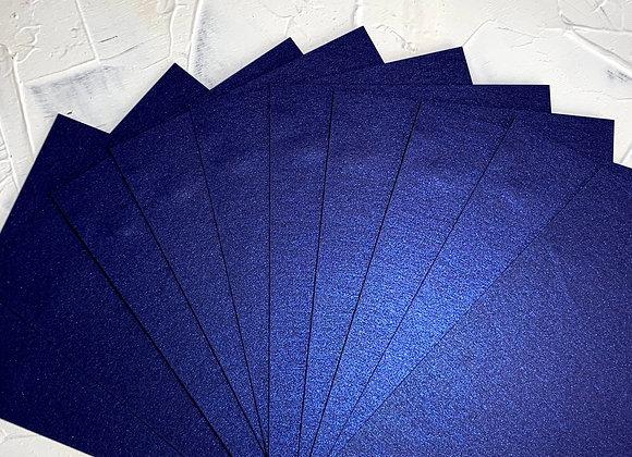 Metallic blue calligraphy paper