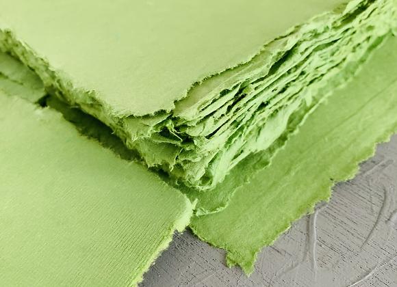 Leaf Green deckle edge paper (A5)